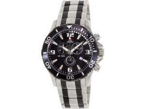 Swiss Precimax SP13068 Tarsis Pro Men's Two-Tone Stainless-Steel Swiss Chronograph Watch with Black Dial