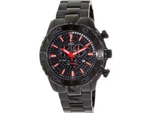 Swiss Precimax Men's SP13362 Black Stainless-Steel Swiss Quartz Watch with Black Dial