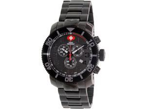 Swiss Precimax Men's Verto Pro SP13033 Black Stainless-Steel Swiss Chronograph Watch with Black Dial