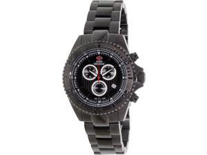 Swiss Precimax SP12193 Maritime Pro Men's Black Stainless-Steel Swiss Chronograph Watch with Black Dial
