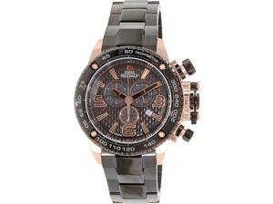 Swiss Precimax Forge Pro SP13247 Men's Black Stainless-Steel Swiss Chronograph Watch with Black Dial