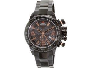 Swiss Precimax SP13245 Men's Forge Pro Black Stainless-Steel Swiss Chronograph Watch with Black Dial