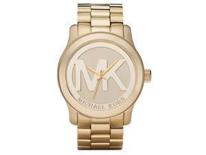 Michael Kors MK5473 Large Runway Gold Tone Logo Women's Watch