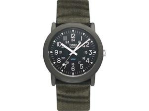 Timex Men's T41711 Brown Nylon Quartz Watch with Black Dial