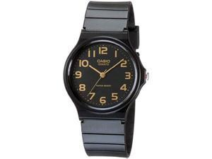 Casio Men's MQ24-1B2 Black Rubber Quartz Watch with Black Dial