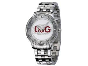 Dolce & Gabbana Women's DW0144 Silver Stainless-Steel Quartz Watch with White Dial
