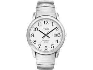 Timex Men's T2H451 Silver Stainless-Steel Quartz Watch with White Dial