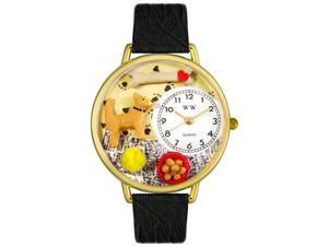 Whimsical Watches Unisex Chihuahua Gold Watch Watch G0130023