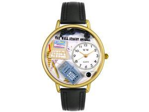 AccounTant Black Padded Leather And Goldtone Watch #G0610005