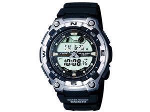Casio Sports Gear Grey Digital Analog Dial Men's Watch #AQ-W100-1AVCF
