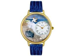Whimsical Watches Unisex Footprints Gold Watch Watch G0710013