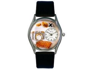 Photographer Black Leather And Silvertone Watch #S0620016
