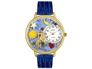 Aquarius Royal Blue Leather And Goldtone Watch #G1810001