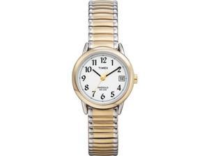 Timex Women's T2H491 Gold Stainless-Steel Quartz Watch with White Dial