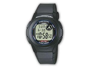 Casio Men's F200W-2A Blue Resin Quartz Watch with Grey Dial