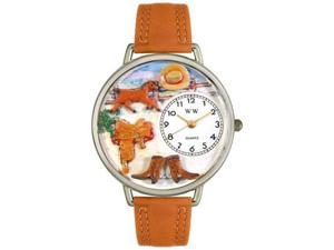 Ranch Tan Leather And Silvertone Watch #U0160001