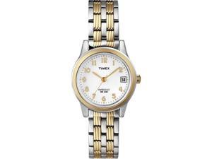 Timex Women's T2N254 Stainless-Steel Quartz Watch with White Dial