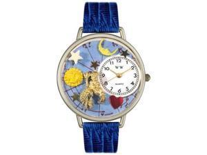 Aquarius Royal Blue Leather And Silvertone Watch #U1810001