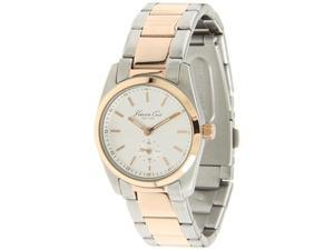 Kenneth Cole Men's Classics KC4826 Silver Stainless-Steel Quartz Watch with White Dial