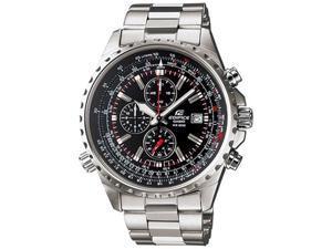 Casio Men's EF527D-1AV Silver Stainless-Steel Quartz Watch with Black Dial