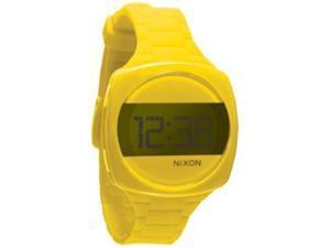 Nixon Men's Dash A168639-00 Yellow Silicone Quartz Watch with Black Dial
