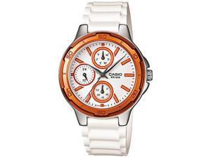 Casio Women's LTP1326-4A2V White Resin Quartz Watch with White Dial