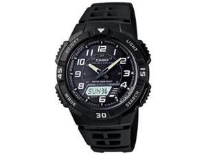 Casio Men's AQS800W-1BV Black Resin Quartz Watch with Black Dial