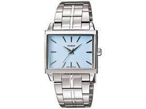 Casio Women's LTP1334D-2A Silver Stainless-Steel Quartz Watch with Blue Dial
