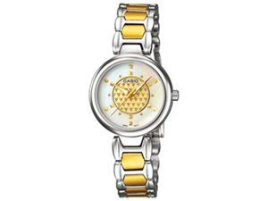 Casio Women's LTP1338SG-7A Silver Stainless-Steel Quartz Watch with Silver Dial