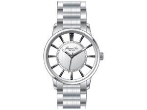 Kenneth Cole Men's Transparency KC9103 Silver Stainless-Steel Quartz Watch with Silver Dial