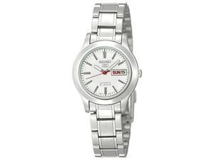 Seiko Women's 5 Automatic SYMD87K Silver Stainless-Steel Automatic Watch with Silver Dial