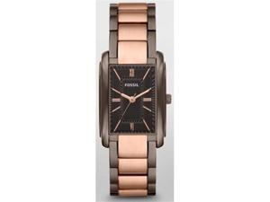 Fossil Women's ES3007 Pink Stainless-Steel Analog Quartz Watch with Brown Dial