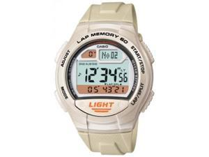 Casio Men's W734-7AV White Rubber Quartz Watch with Digital Dial