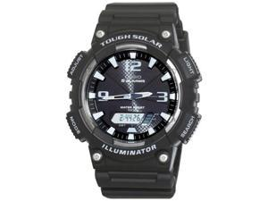 Casio Mens Sport AQS810W-1AV Black Resin Quartz Watch with Black Dial