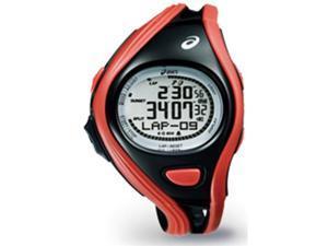 Asics CQAR0304 Unisex Challenge Red Polyurethane Quartz Watch with Silver Dial