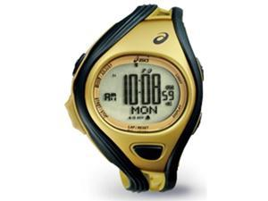Asics CQAR0407 Unisex Challenge Gold Polyurethane Quartz Watch with Black Dial