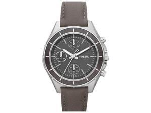 Fossil Women's Dylan CH2831 Brown Leather Analog Quartz Watch with Grey Dial
