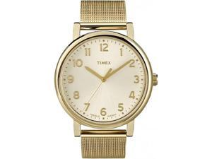Timex Men's Originals T2N598 Gold Stainless-Steel Quartz Watch with White Dial