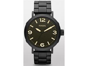 Fossil Men's Clyde JR1393 Black Stainless-Steel Quartz Watch with Black Dial