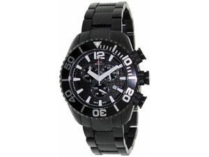 Swiss Precimax Men's Deep Blue Pro II SP12162 Black Stainless-Steel Chronograph Watch with Black Dial