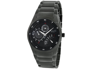 Kenneth Cole Men's KC9189 Grey Stainless-Steel Quartz Watch with Black Dial