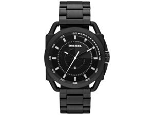 Diesel Men's DZ1580 Black Tone Stainless Steel Bracelet Quartz Ion Plated Watch