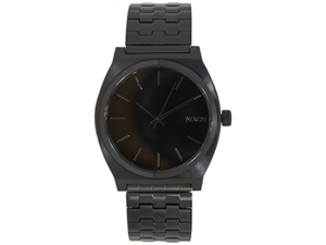 Nixon Men's Time Teller A045001-00 Black Stainless-Steel Quartz Watch with Black Dial