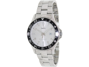 Timex Men's Originals T2P027 Silver Stainless-Steel Analog Quartz Watch with Silver Dial