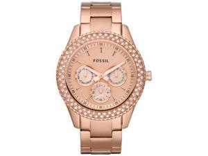 Fossil Women's Stella Rose Stainless Steel Multifuncion Watch