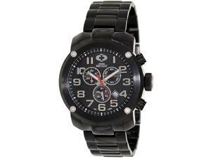 Swiss Precimax SP13013 Men's Marauder Pro Black Stainless-Steel Swiss Chronograph Watch with Black Dial