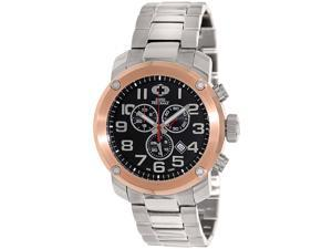 Swiss Precimax SP13020 Men's Marauder Pro Silver Stainless-Steel Swiss Chronograph Watch with Black Dial
