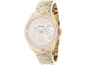 Fossil Cecile Multifunction Rose Dial Rose Gold-tone Steel Ladies Watch AM4483