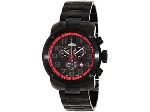 Swiss Precimax SP13015 Men's Marauder Pro Black Stainless-Steel Swiss Chronograph Watch with Black Dial