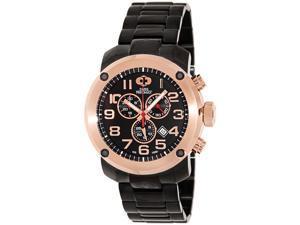 Swiss Precimax SP13021 Men's Marauder Pro Black Stainless-Steel Swiss Chronograph Watch with Black Dial